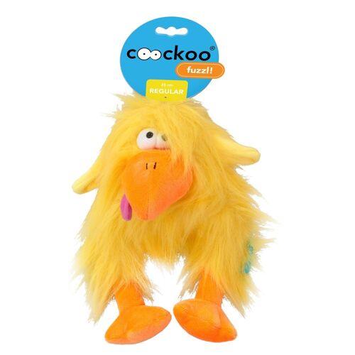 Coockoo Fuzzl Hundespielzeug mit Quietscher, Gelb, 25 x 14 cm