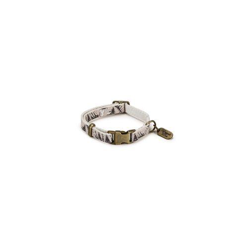 Designed By Lotte - Oribo Halsband oder Leine aus Nylon, Halsband beige, 20-30 cm x 10 mm