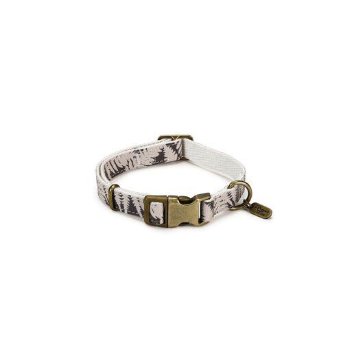 Designed By Lotte - Oribo Halsband oder Leine aus Nylon, Halsband beige, 35-50 cm x 20 mm