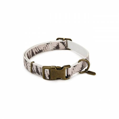 Designed By Lotte - Oribo Halsband oder Leine aus Nylon, Halsband beige, 48-70 cm x 25 mm