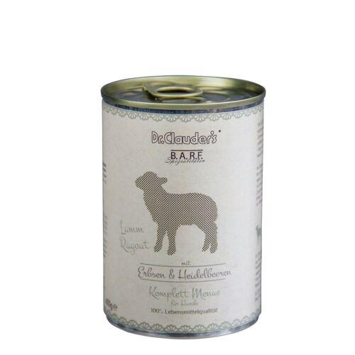 Dr. Clauders Barf Dog Komplettmenü Lammragout, 6 x 400 g