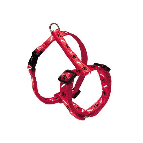 Nobby Hundegeschirr Nylon Mini für Welpen und kleine Hunde, Brust 20-35 cm, B: 10 mm, rot