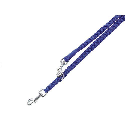 Nobby Hundeleine geflochten Nylon, L: 200 cm; B: 25 mm, blau