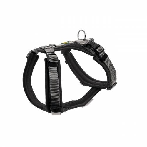 Hunter Hundegeschirr Maldon gepolstert, Gr. XS-S: Hals 38 - 62 cm   Bauch 37 - 53 cm   Breite 2,0 cm, schwarz/grau 67492