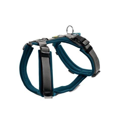 Hunter Hundegeschirr Maldon gepolstert, Gr. XS: Hals 31 - 49 cm   Bauch 34 - 49 cm   Breite 1,5 cm, blau/grau 67509