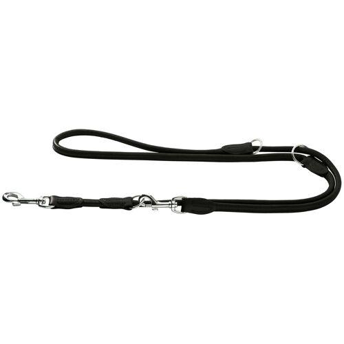 Hunter Hundeleine aus Elchleder Round & Soft, 1 m lang, 10mm breit, schwarz 41951