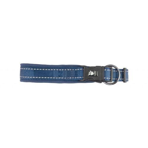 HURTTA Casual Hundehalsband gepolstert, 45-55cm, blau (ca. 3,5cm breit)