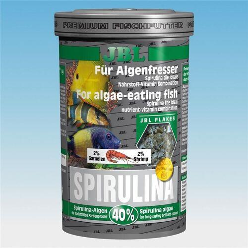 JBL Spirulina Hauptfutter für Algenfresser im Aquarium, 250 ml