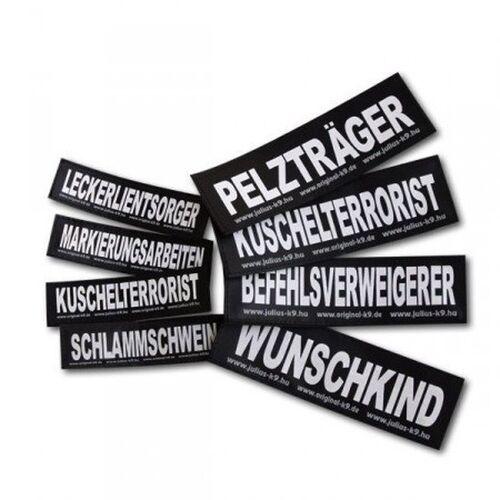 Julius K9 Logo Klettsticker groß G-L, KAMPFHUND