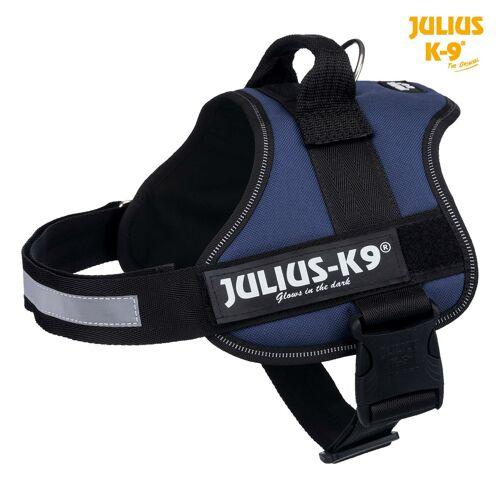 Julius K9 Powergeschirr Hundegeschirr, Gr. 0/M–L: 58–76 cm/40 mm, indigo