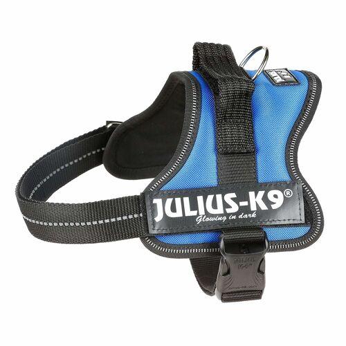Julius K9 Powergeschirr Hundegeschirr, Gr. 1/L: 66–85 cm/50 mm, blau