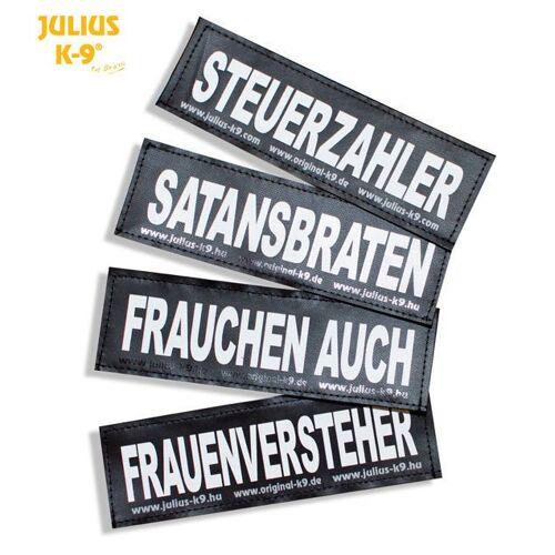 Julius K9 Logo Klettsticker groß M-Z, SELBSTGESTRICKT