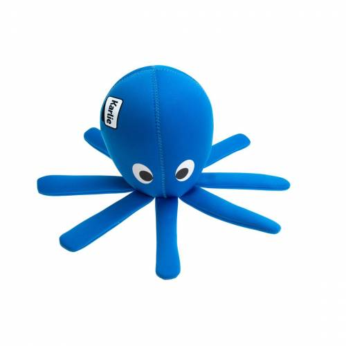Karlie Wasserspielzeug Hundespielzeug aus Neopren, Octo, blau - L: 33 cm B: 33 cm H: 15 cm
