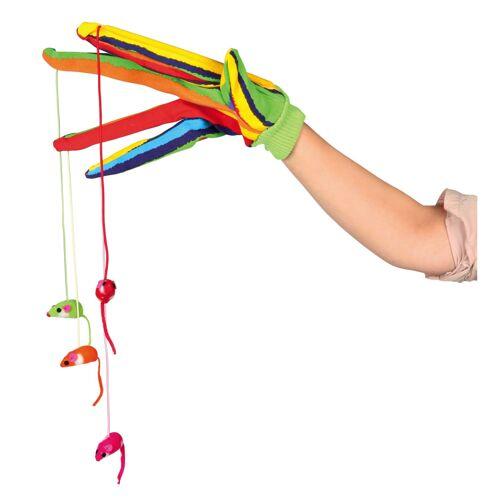 TRIXIE Katzen Handschuh mit 4 Hängemäusen, Handschuh mit 4 Hängemäusen 45631