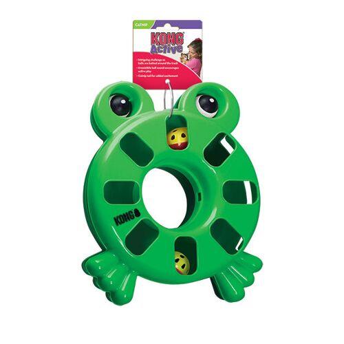KONG Puzzle Toy Katzenspielzeug, Frosch