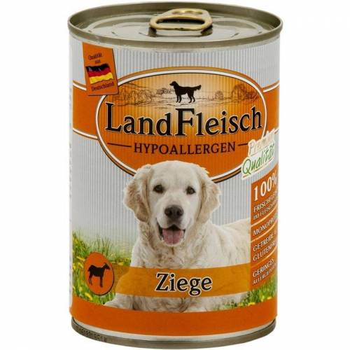 Landfleisch Hypoallergen Hundefutter, Ziege 12x400g