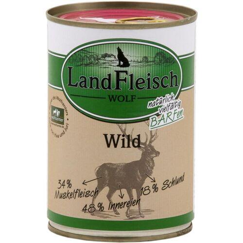 Landfleisch Wolf Sensibel Hundefutter, 100% vom Wild 12x400g