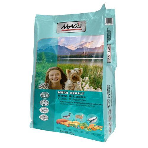 MACs Dog Adult Mini Hundefutter, Ente & Lachs 3 kg