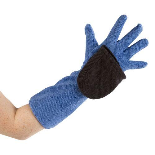 Kerbl Mikrofaser-Pflegehandschuh für Hunde und Katzen, blau/grau