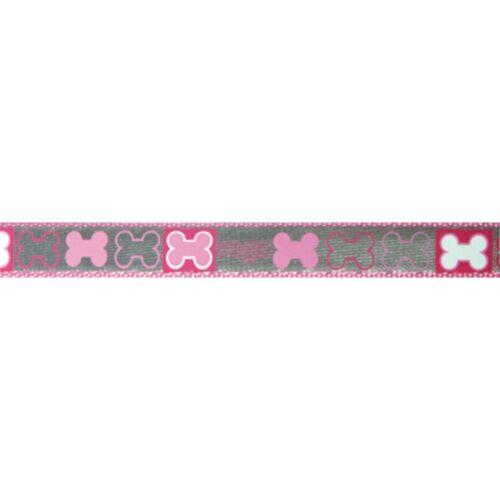 Rogz Reflecto  Hundeleine reflektierend, pink - 180 cm x 16 mm