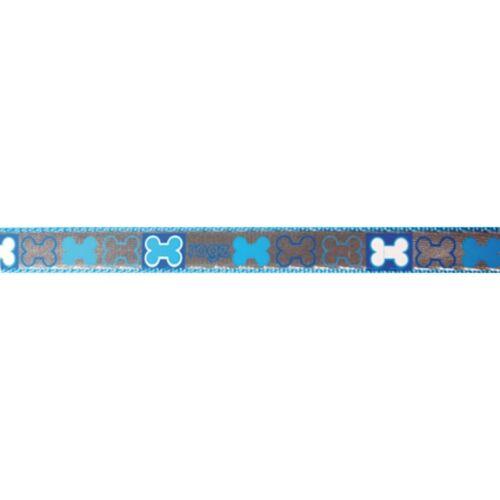 Rogz Reflecto  Hundeleine reflektierend, blau - 180 cm x 8 mm