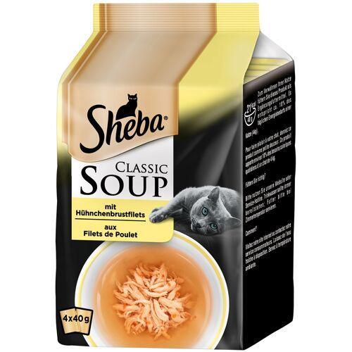 Sheba - Classic Soup, Hühnchenbrustfilet 4x40g