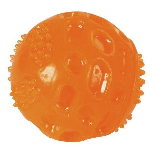 Kerbl ToyFastic Hundeball Squeaky bissfest, Ø 6cm, orange