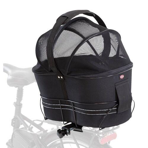 TRIXIE Hunde-Fahrradkorb für schmale Gepäckträger, 29 × 42 × 48 cm, schwarz 13111