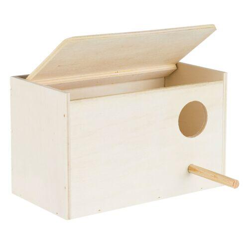 TRIXIE Vogel Nistkasten aus Holz, für Sittiche, Holz, 21×13×12 cm 5630