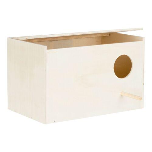 TRIXIE Vogel Nistkasten aus Holz, für Nymphensittiche, Holz, 30×20×20 cm 5631