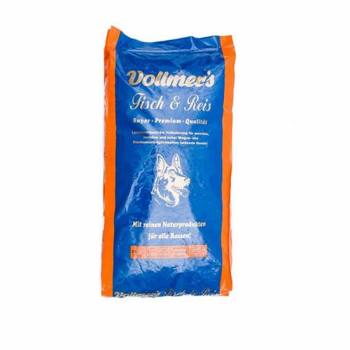Vollmers Vollmer's Fisch & Reis Hundefutter, 15kg