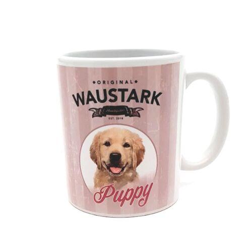 Waustark Retro Kaffeebecher, Puppy, pink