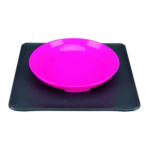 Yummynator aus Höhle der Löwen, S: 24 × 24 cm, 400 ml, pink / grau