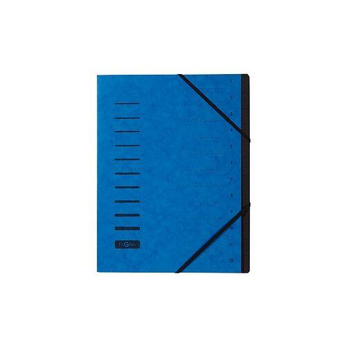 PAGNA Ordnungsmappe Ordnungsmappen 12 Fächer blau