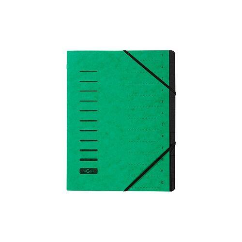 PAGNA Ordnungsmappe Ordnungsmappen 12 Fächer grün