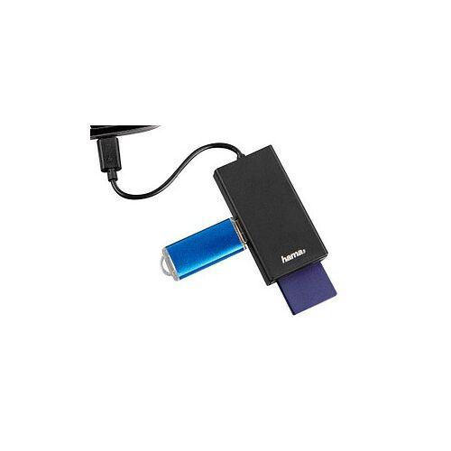 hama USB-2.0-OTG-Hub/Kartenleser Kartenleser schwarz