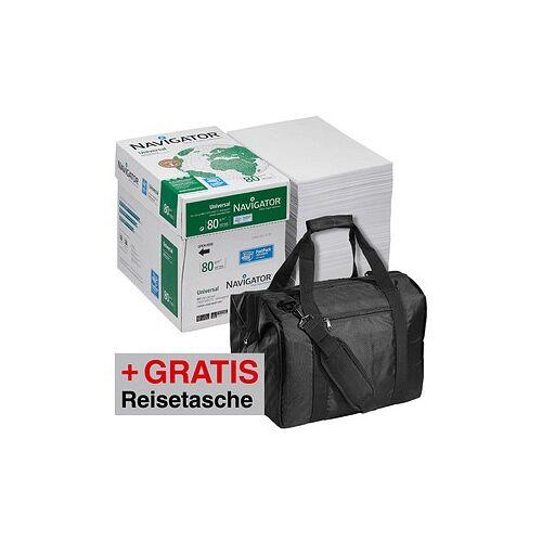 Navigator AKTION: 2 Maxi-Boxen NAVIGATOR Kopierpapier Universal A4 80 g/qm + GRATIS Navigator Weekend Bag