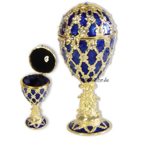 Spieluhrenwelt Schmuck-Ei nach Faberge Art mit Spieluhren Melodie