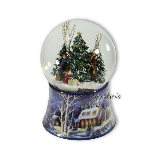 Spieluhrenwelt Weihnachtliche Schneekugel mit Spieluhren Melodie