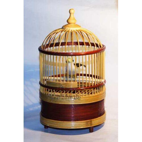Spieluhr.de Vogelkäfig mit mechanischer Spieluhr, macht Vogelgezwitscher