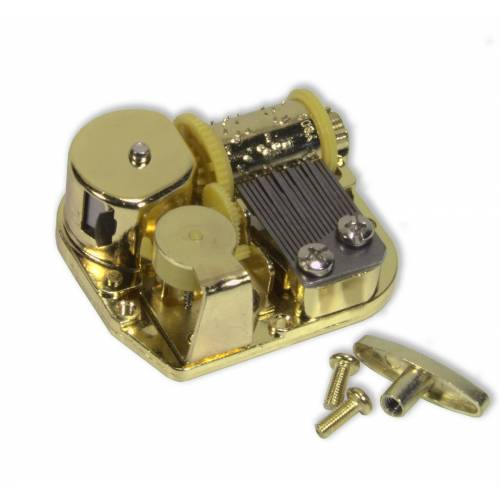 Spieluhr.de Spielwerke Musikwerk-Spieluhr Spielwerk 18 Töne Laufwerk, Melodie wählbar für Bastler Can Can