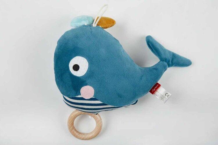 sigikid Baby Kuscheltier Wal von Sigikid mit Tasche