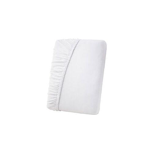 Primbausch Fein-Jersey Spannleintuch 180 x190 cm bis 190 x 200 cm weiß