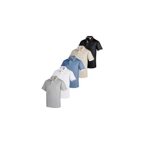 Nordcap Herren Funktionspoloshirts, 5er Pack edel