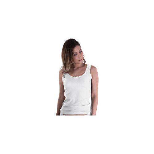 Belmina 2er Pack Spitzen-Tops weiß