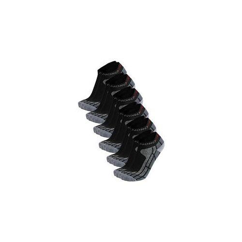 Nordcap Allround-Sportsocken kurz, 6er Pack schwarz