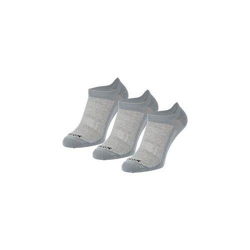 Geox 3er Pack Herren Sneaker-Socken Invisible GEOX silbergrau