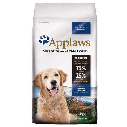 Applaws 7,5kg Adult Lite mit Huhn Applaws Hundefutter trocken