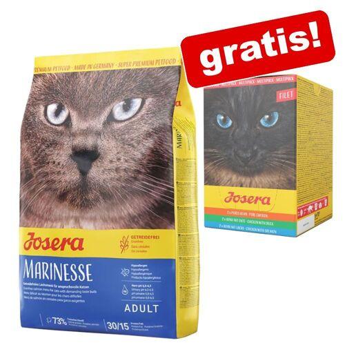 Josera 2kg Léger Josera Katzenfutter trocken + 6x85g Paté Mix Josera Nassfutter gratis!