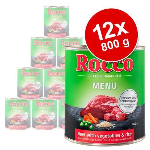 Rocco 12x800g Menü Rind mit Lamm Rocco Hundefutter nass